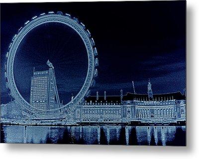London Eye Art Metal Print by David Pyatt