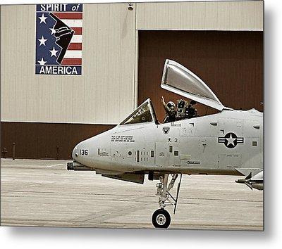 A-10 Thunderbolt Metal Print by Lamyl Hammoudi