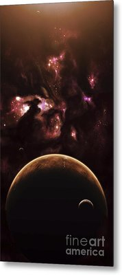 A Barren World Passes In Front Metal Print by Kevin Lafin