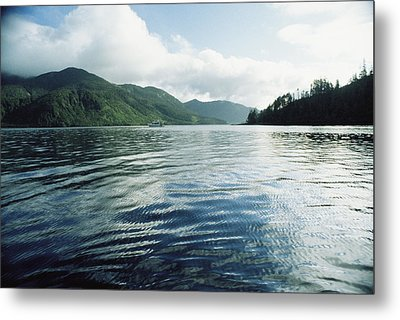 A Boat Plies The Gentle Waters Metal Print by Bill Curtsinger