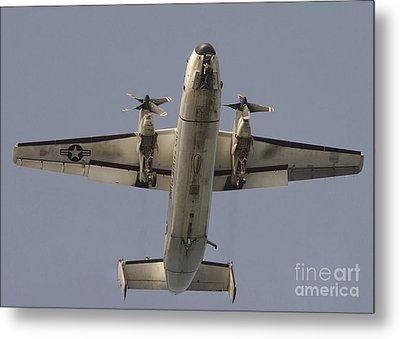 A C-2 Greyhound In Flight Metal Print by Stocktrek Images
