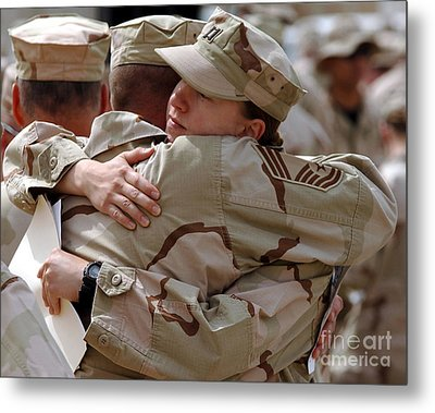 A Chief Master Sergeant Consoles Metal Print by Stocktrek Images
