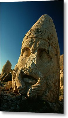 A Close View Of The Head Of The Greek Metal Print by Gordon Gahan