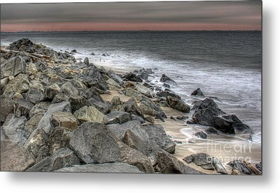 A Cold Day On A December Beach Metal Print by Lee Dos Santos