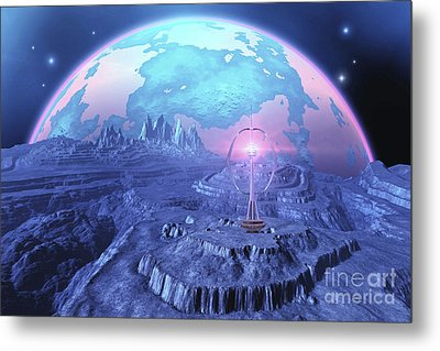 A Colony On An Alien Moon Metal Print by Corey Ford