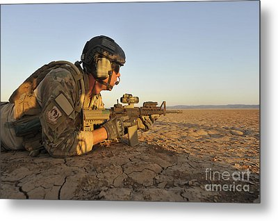 A Combat Rescue Officer Provides Metal Print by Stocktrek Images