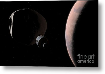 A Command Module Begins A Close Metal Print by Walter Myers