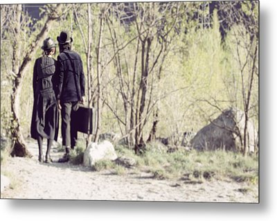 A Couple In The Woods Metal Print by Joana Kruse