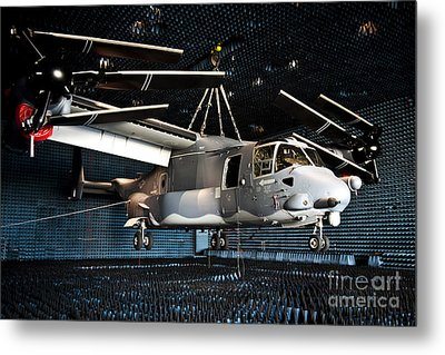 A Cv-22 Osprey Hangs In A Anechoic Metal Print by Stocktrek Images