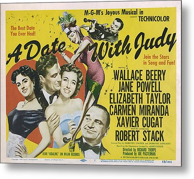 A Date With Judy, Elizabeth Taylor Metal Print by Everett