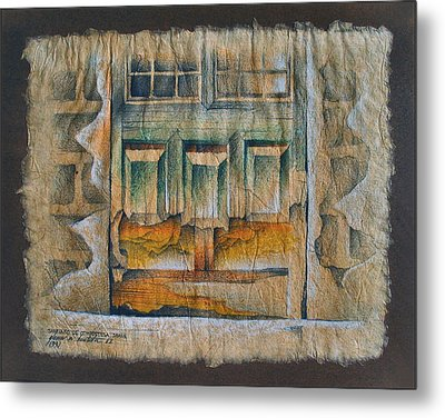 A Door In Compostela1982 Metal Print by Glenn Bautista