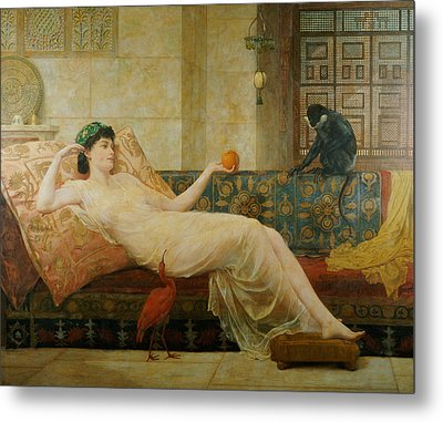 A Dream Of Paradise Metal Print by Frederick Goodall