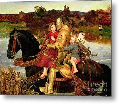 A Dream Of The Past Metal Print by Sir John Everett Millais