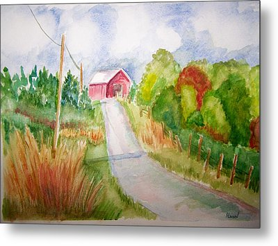 A Drive In The Country Metal Print by Belinda Lawson