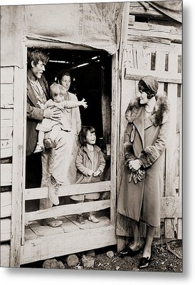 A Family Of Poor Sharecroppers Metal Print by Everett
