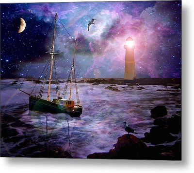 A Fishermans Tale Metal Print by Susie  Hawkins
