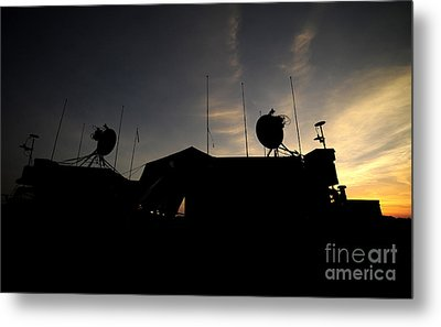 A Ground Control Station Which Operates Metal Print by Stocktrek Images