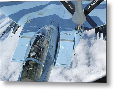 A Kc-135 Stratotanker Provides Metal Print by Stocktrek Images