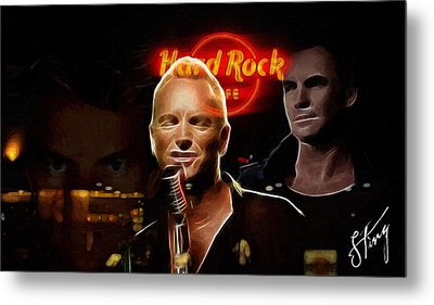 A Life For The Music Metal Print by Steve K