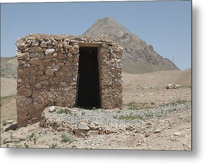 A Local Afghan Hut In The Mountains Metal Print by Everett