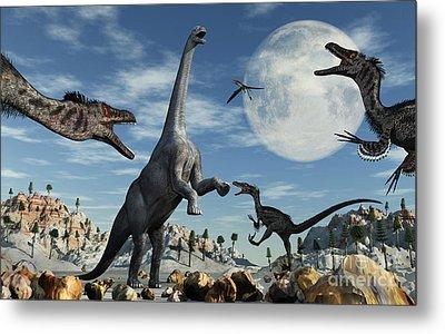 A Lone Camarasaurus Dinosaur Metal Print by Mark Stevenson