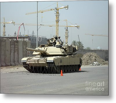 A M1 Abram Sits Out Front Of The New Metal Print by Terry Moore