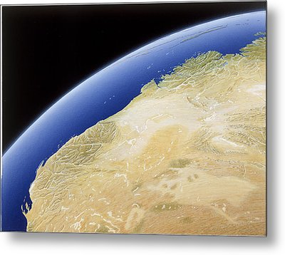 A Map Of Western Australia Metal Print by NG Maps