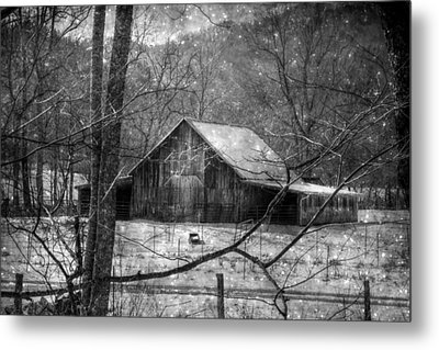 A Memory In Black And White Metal Print by Christine Annas