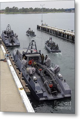 A Mk-v Special Operations Craft Tied Metal Print by Michael Wood