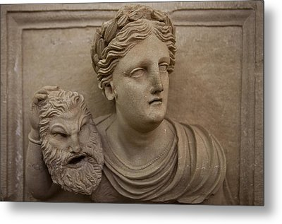 A Nabatean Bust Of A Woman Holdig Metal Print by Taylor S. Kennedy