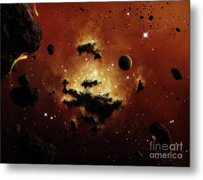 A Nebula Evaporates In The Far Distance Metal Print by Brian Christensen