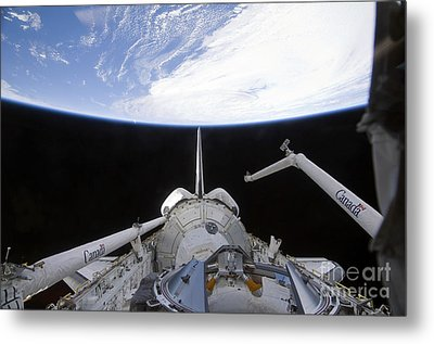 A Partial View Of The Tranquility Node Metal Print by Stocktrek Images