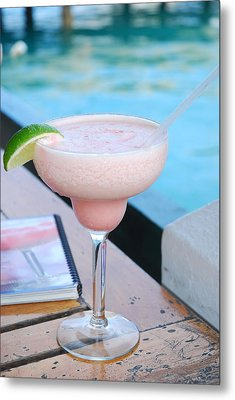 A Pink Sand Margarita Metal Print by Hibberd, Shannon