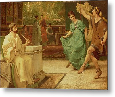 A Roman Dance Metal Print by Sir Lawrence Alma-Tadema