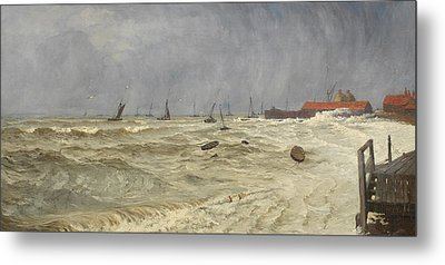 A Rough Day At Leigh Metal Print by William Pye
