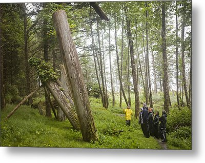 A Small Group Of People Look Metal Print by Taylor S. Kennedy