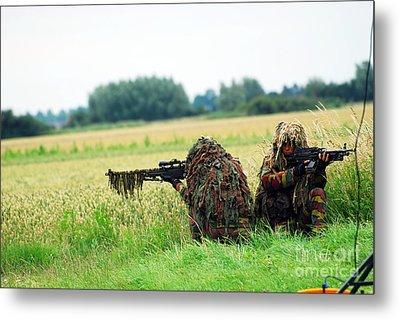 A Sniper Unit Of The Paracommandos Metal Print by Luc De Jaeger