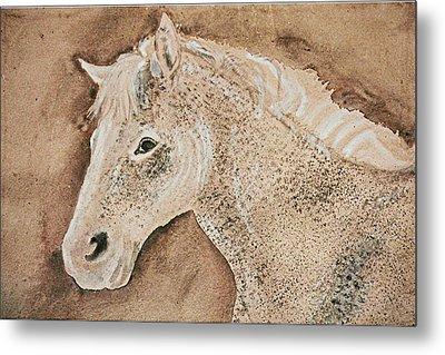 A Stallion Metal Print by Remy Francis
