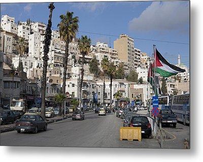A Street Scene In Amman, Jordan Metal Print by Taylor S. Kennedy