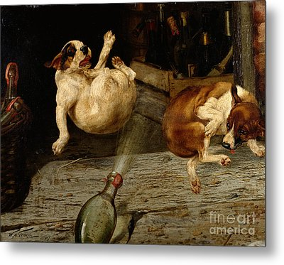 A Surprising Result Metal Print by William Henry Hamilton Trood