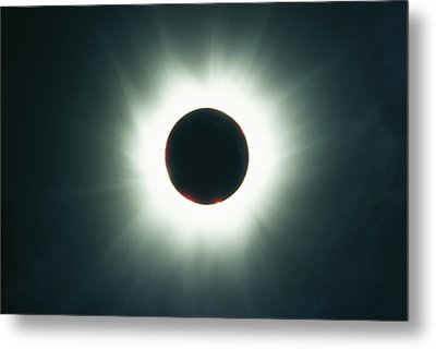 A Total Solar Eclipse Over France Metal Print by Carsten Peter