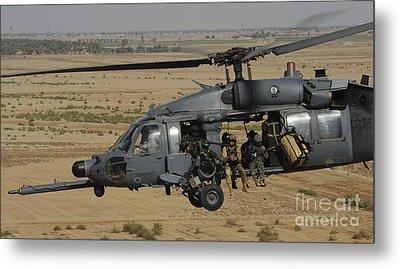 A U.s. Air Force Hh-60 Pavehawk Flies Metal Print by Stocktrek Images