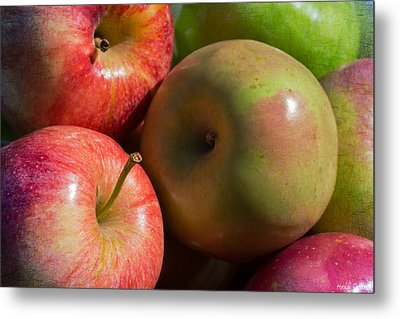 A Variety Of Apples Metal Print by Heidi Smith