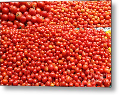 A Variety Of Fresh Tomatoes - 5d17833 Metal Print by Wingsdomain Art and Photography