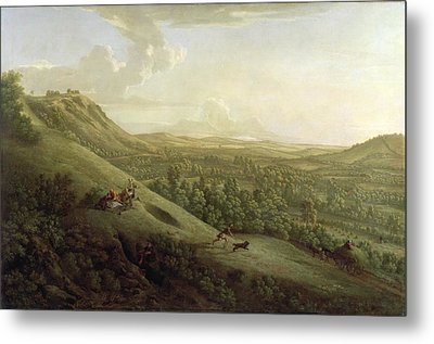 A View Of Boxhill - Surrey Metal Print by George Lambert