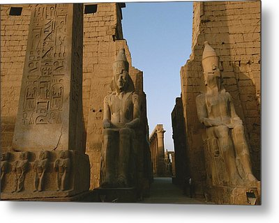 A View Of Luxor Temple Metal Print by Kenneth Garrett