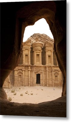 A View Of The Monastary In Petra Metal Print by Taylor S. Kennedy