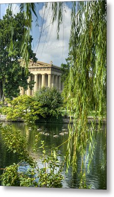A View Of The Parthenon 16 Metal Print by Douglas Barnett