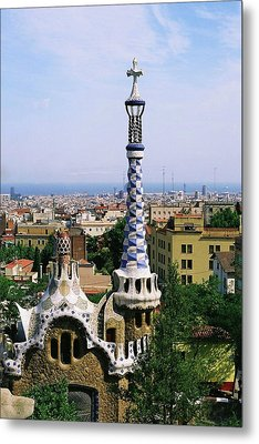 A View Over Barcelona From Parc Guell. Metal Print by Tracy Packer Photography