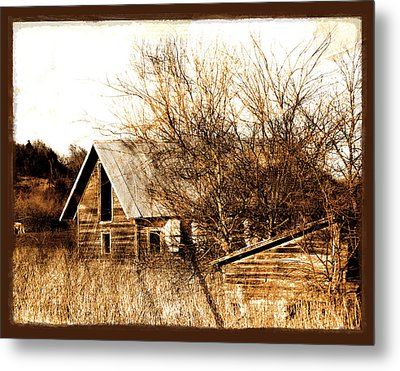 Abandoned Barn  Metal Print by Ann Powell